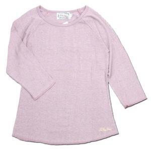 A HOPE HEMP (アホープヘンプ) RAGLAN 3/4 WOMEN'S TEE  ヘンプコットン レディース ラグラン 7分袖 Tシャツ / ROSE BUD|greenplanet