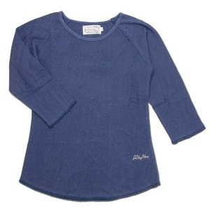 A HOPE HEMP (アホープヘンプ) RAGLAN 3/4 WOMEN'S TEE  ヘンプコットン レディース ラグラン 7分袖 Tシャツ / NAVY|greenplanet