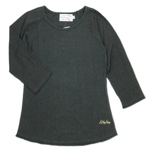 A HOPE HEMP (アホープヘンプ) RAGLAN 3/4 WOMEN'S TEE  ヘンプコットン レディース ラグラン 7分袖 Tシャツ / OLD BLACKIE|greenplanet