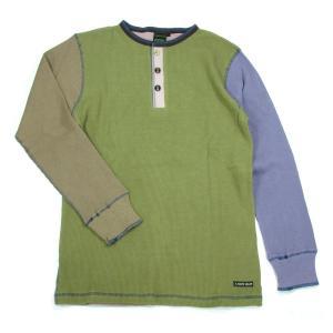 A HOPE HEMP (アホープヘンプ) L/S HENLEY NECK CRAZY TEE ヘンプコットン ヘンリーネック ロングスリーブTシャツ / CRAZY1|greenplanet