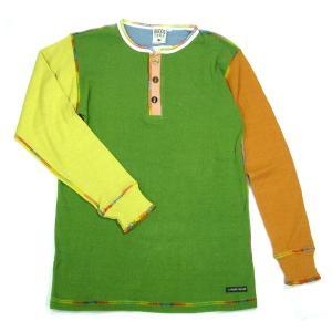 A HOPE HEMP (アホープヘンプ) L/S HENLEY NECK CRAZY TEE ヘンプコットン ヘンリーネック ロングスリーブTシャツ / CRAZY3|greenplanet