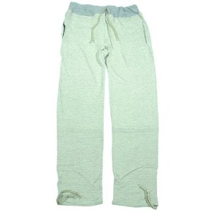 A HOPE HEMP (アホープヘンプ) STRIPE BORDER RELAX PANTS ヘンプコットン ボーダー スウェット Tパンツ / NATURAL x A.GREY|greenplanet