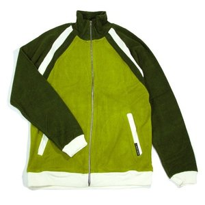 A HOPE HEMP (アホープヘンプ) FRENCH TERRY ZIPUP JERSEY ヘンプコットン フレンチテリー パイル地 ジップアップジャージ / GREEN|greenplanet