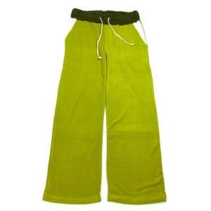 A HOPE HEMP (アホープヘンプ) FR/TERRY FULL LENGTH PANTS ヘンプコットン フレンチテリーパイル地 スウェット バギーパンツ / GREEN|greenplanet