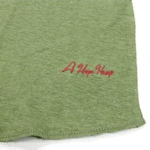 A HOPE HEMP (アホープヘンプ) RAGLAN 3/4 WOMEN'S ONE PIECE ヘンプコットン ラグラン 7分袖 Tワンピース / LT GREEN|greenplanet|03