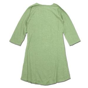 A HOPE HEMP (アホープヘンプ) RAGLAN 3/4 WOMEN'S ONE PIECE ヘンプコットン ラグラン 7分袖 Tワンピース / LT GREEN|greenplanet|04