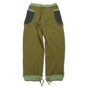 A HOPE HEMP (アホープヘンプ) SIDE POCKET VENDED SWEAT PANTS ヘンプコットン スウェット パンツ / GREEN greenplanet