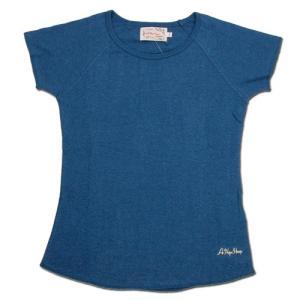 A HOPE HEMP (アホープヘンプ) RAGLAN FRENCH SLEEVE WOMEN'S TEE ヘンプコットン フレンチスリーブ Tシャツ / INDIGO|greenplanet