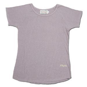 A HOPE HEMP (アホープヘンプ) RAGLAN FRENCH SLEEVE WOMEN'S TEE ヘンプコットン フレンチスリーブ Tシャツ / LT PURPLE|greenplanet