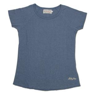 A HOPE HEMP (アホープヘンプ) RAGLAN FRENCH SLEEVE WOMEN'S TEE ヘンプコットン フレンチスリーブ Tシャツ / MIDNIGHT|greenplanet