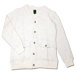A HOPE HEMP (アホープヘンプ) RAINBOW NEP V-NECK CARDIGAN Vネック カーディガン / NATURAL|greenplanet