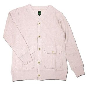 A HOPE HEMP (アホープヘンプ) RAINBOW NEP V-NECK CARDIGAN Vネック カーディガン / ROSE BUD|greenplanet