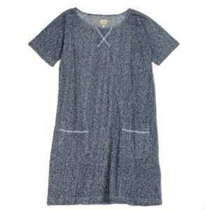 A HOPE HEMP (アホープヘンプ) MELANGE RAGLAN S/S OP ヘンプコットン Tシャツ ワンピース / NAVY|greenplanet