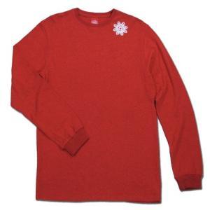 Tokyo Hemp Connection (トウキョウヘンプコネクション) ONE HIT TEE LS ロングスリーブTシャツ / RED x OFF|greenplanet
