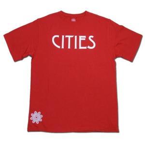 Tokyo Hemp Connection (トウキョウヘンプコネクション) CITIES TEE ヘンプ オーガニックコットン Tシャツ / RED|greenplanet