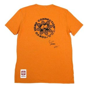 Tokyo Hemp Connection (トウキョウヘンプコネクション)  THC x SKOLOCT TEES ヘンプオーガニックコットン Tシャツ / ORANGE|greenplanet|04