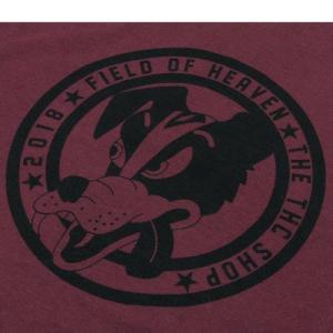 Tokyo Hemp Connection (トウキョウヘンプコネクション)  THC SHOP TEES DOG グラフィック Tシャツ / DEEP RED|greenplanet|03