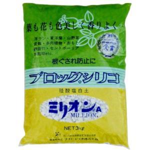 ミリオンA 3kg 珪酸塩白土 ブロックシリコ|greenplants
