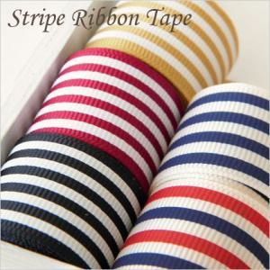 【ゆうパケット可】ストライプグログランリボン 片面 5色 25mm幅1m リボン/テープ/ロゼット/ヘアアクセ/服飾 1510/GRibbon02|greenrosenetshopyumi