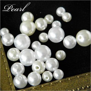 【卸売り】パール10mm 白・生成 500個 貫通・未貫通タイプ Pearl14-10mm|greenrosenetshopyumi