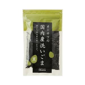 オーサワ 国内産洗いごま(黒) 100g ow jn|greens-gc