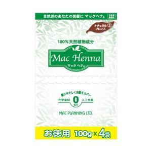 マックヘナ お徳用(ナチュラルブロンズ)-3 400g(100g×4袋) マックプラン|greens-gc