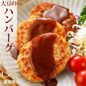 おかず屋さんの業務用大豆ハンバーグ 1.5kg(25枚入)ベジタリアン対応 ※卵使用|greens-gc
