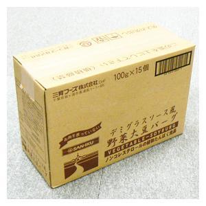 【送料無料】【お買い得15個セット】三育 デミグラスソース風野菜大豆バーグ 100g|greens-gc