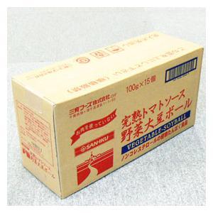 【お買い得15個セット】三育 完熟トマトソース野菜大豆ボール 100g×15|greens-gc