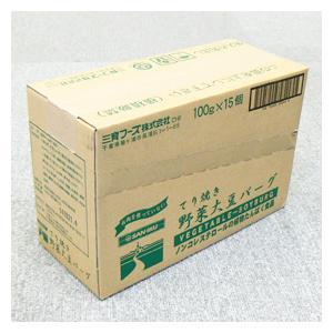 【送料無料】【お買い得15個セット】三育 てり焼き野菜大豆バーグ 100g|greens-gc