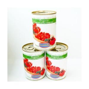 モンテベッロ 有機JAS認定 ダイストマト 有機トマト 400g×1個|greens-gc