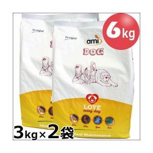 販売終了【送料無料】【ビーガンペットフード】AmiDog アミドッグフード(犬用) 3kg×2袋 st jn pns greens-gc