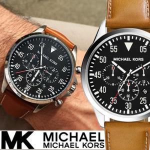 afb3dc5334fd マイケルコース 時計 ガージュ ゲージ クロノグラフ メンズ 腕時計 Michael Kors Gage ブラック タン レザー クオーツ  MK8333 あすつく