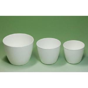 プラントポット 丸 3.5号 ホワイト 白 大和プラ φ10×7.8(cm)|greentime
