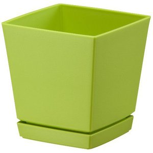 ヤマト クエンチローポット 4号 グリーン 10×10×11(cm)| 鉢 プランター|greentime