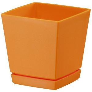 ヤマト クエンチローポット 5号 オレンジ 11.5×11.5×17(cm)| 鉢 プランター|greentime