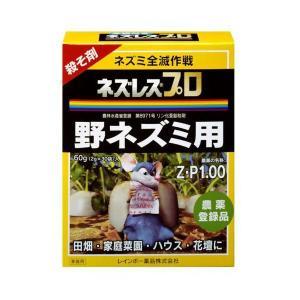 ネズミ 殺鼠剤 駆除 ネズレスプロ 2G×30 レインボー薬品|greentime