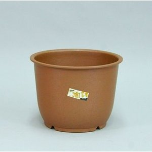 アップルウェアー 陶鉢 輪型 4号 きん茶  φ11.7×9cm| プランター|greentime