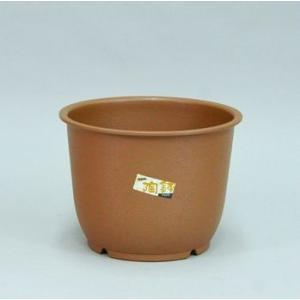 アップルウェアー 陶鉢 輪型 8号 きん茶  φ23×16.8cm| プランター|greentime