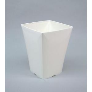 アップルウェアー グラシアポット 215型 ホワイト 21.5×21.5×27.5(cm)| 鉢 プランター|greentime