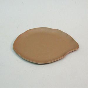 アップルウェアー 陶鉢皿 楕円 250型 きん茶 25.1×20.1×1.3(cm)| プランター|greentime
