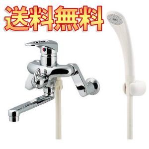 カクダイ シングルレバー混合栓 浴室用 壁付 節水シャワー付 メッキ仕様 一般地仕様 143-009|greentime