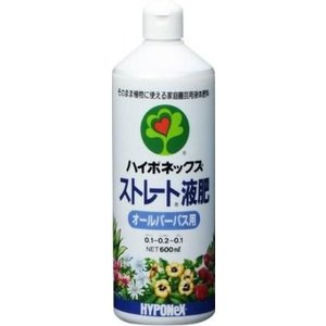 ハイポネックス ストレート液肥 オールパーパス 600ml | 活力剤|greentime
