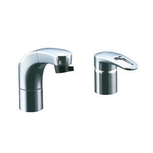 LIXIL(リクシル) INAX RLF-682Y 洗面用 ホース引出式 シングルレバー混合水栓 フルメッキタイプ エコハンドル 小型吐水切替機能|greentime