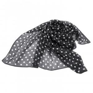 シルクのスカーフ(ドット柄)カジュアル エレガント かわいい 代引き不可・同梱不可|greetings