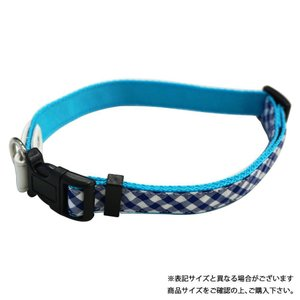 リードッグ NEWギンガムチェックワンタッチカラーSS ブルー NGCWC-SS/BL着脱 ペット 飼犬 代引き不可・同梱不可|greetings
