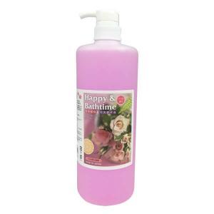 ハッピー&バスタイム ペット用入浴液 1L バラの香り 代引き不可・同梱不可|greetings