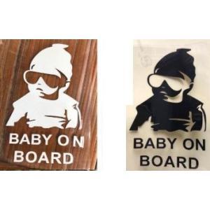 車 ステッカー 赤ちゃん 乗ってる BABY IN CAR かっこいい ガラス用 本体用 |grepo-yafuu-store