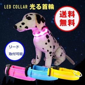 【送料無料】光る首輪 犬用 電池式 LED ペット用!夜の犬の散歩を安全に!大型犬から小型犬もOK!