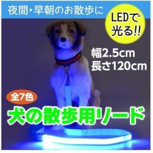【送料無料】光る リード LED 犬用 防水 電池式 ペット用 夜の犬の散歩を安全に 大型犬から小型...